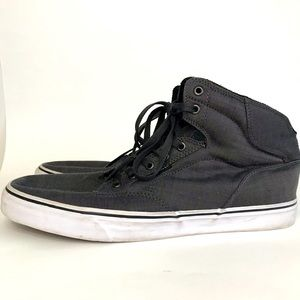 Vans High Top Lace Up Gray Skate Sneakers